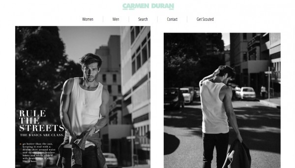 Design website customized for: Carmen Duran. Model Agency. - neitmedia