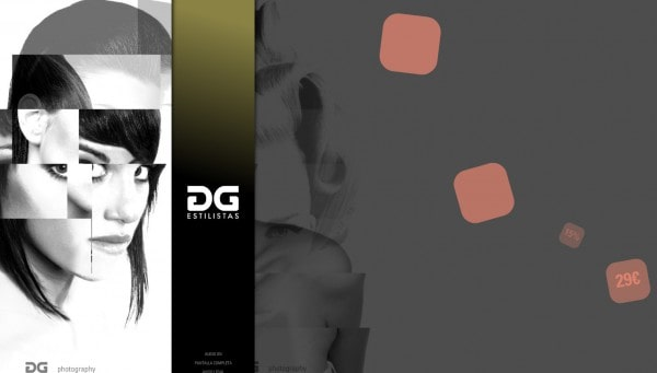 Design website customized for: DG Estilistas - neitmedia